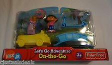 Dora the Explorer Nick Jr Fisher Price Let's Go Adventure On-the Go 5 Piece Pack