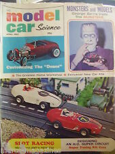 RARE MODEL CAR SCIENCE SLOT CAR RACING APRIL 1965 MUNSTERS THE DEUCE STROMBECKER