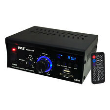 Pyle Mini 2 x 40-Watt Stereo Power Amplifier + USB/SD/AUX/LED Display | PCAU25A