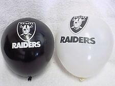 Oakland Raiders NFL Football TEAM BALLOONS B-DAY PARTY 12 LATEX blow up New