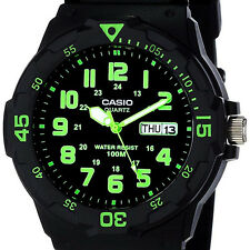 Casio MRW-200H-3BV Analog Watch Green Black 100M WR Day and Date Neo Displa
