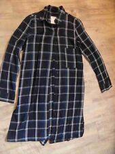 ZARA WOMAN premium collection karierte lange Bluse / Nachthemd Gr. S NEUw BSu117