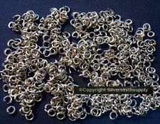 3mm White gold plated heavy gauge open jump rings 500 piece lot fpj088