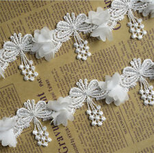 10pc Vintage Butterfly Lace Edge Trim Wedding Dress Ribbon Applique Sewing Craft