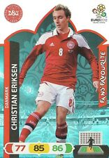 CHRISTIAN ERIKSEN # FAN'S FAVOURITE 1/36 DENMARK CARD PANINI ADRENALYN EURO 2012
