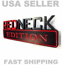 REDNECK EDITION car truck HYUNDAI KIA ornament EMBLEM logo GEO badge DECAL black