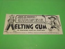 PUBLICITE - ELTING GUM - LE CHEWING GUM DU COW-BOY  - 1961 ( G0 )