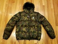 Ralph Lauren RLX Mens Elmwood Camo Quilted Ripstop Hooded Down Jacket Size Large