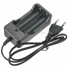 4.2V 1000MA Cargador Doble 18650 Recargable Batería Para Linterna Flashlight