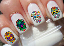 Sugar Skull Nail Art Stickers Transfers Decals Set of 60