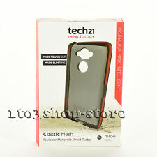 Tech 21 Classic Mesh Soft Case Cover for Motorola Moto Droid Turbo Smokey Black
