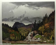 A.J. CASSON group of seven In The Northland art print certificate included