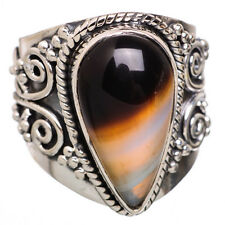 Black Botswana Agate 925 Sterling Silver Ring Size 8 Ana Co Jewelry R814156F