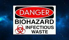 Danger Biohazard Infectious Waste Fridge Magnet. NEW. Zombies, Horror