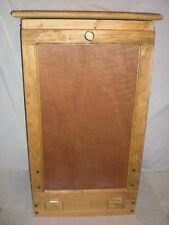 wooden  pull out pine trash bin  holds a 13 gallon bin