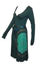 Desigual fantástico vestido talla S = de 34 verde modelo Vest Martita para enlazar