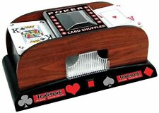 Trademark Trademark Poker Wooden Card Shuffler Card Brown