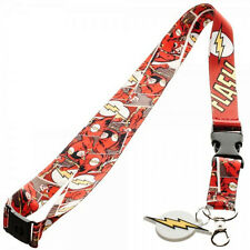 DC Comics The Flash Character Logo Lanyard w/ID Holder and Charm Keychain
