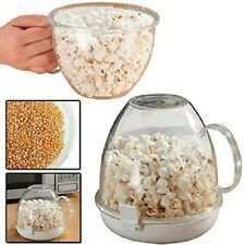 Popcorn Maker Serving Bowl Machine Microwave Cooker Fat Free No Oil New