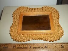 HANDCRAFTED WICKER MIRROR  - DOLL HOUSE MINIATURE
