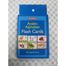 Arabic alphabet flash cards children kids vocabulary learning toy colour picture