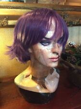 Short Purple Party Hair Purple Wig Party Full Head #125 Wigs