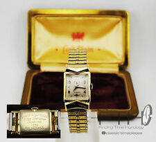 SERVICED-Lord Elgin 14k Solid gold 1952 Softball World Series Vintage Mens Watch