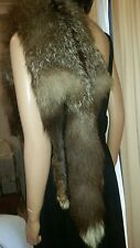 Genuine Crystal Silver Full Fox Fur Stole Wrap Shrug Shawl for Jacket Coat C1920