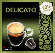 100 Capsules Compatible NESPRESSO Pods! Top Quality Arabica Delicato! SMOOTH!