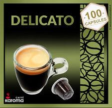 100 Capsules Compatible NESPRESSO!  Overstock Sale! Arabica Delicato $32.90