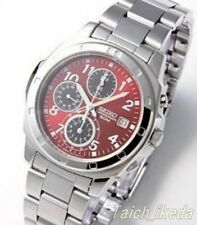 SEIKO SND495P1 Chronograph Red Dial Men's Watch From Japan EMS
