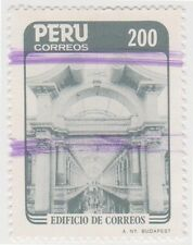 (PUA81) 1985 Peru 200S grey post office Lima ow1614