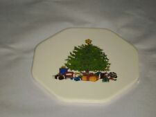 OCTAGON SMOOTH CERAMIC TILE VINTAGE CAPE CRAFTSMENT INC USA CHRISTMAS TREE GIFTS