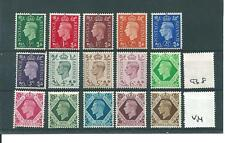 George V1-G640 - 1937 definitivo Set - 15 valori-Unmounted MINT