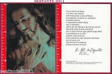 A195 SANTINO HOLY CARD SACRO DIVINO CUORE DI GESù CRISTO VOLTO SANTO