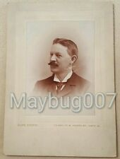 Vintage Antique Cabinet Card Photograph identified man Springfield, Ohio