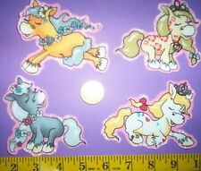 New! Cool! Princess Ponies IRON-ONS FABRIC APPLIQUES IRON-ONS