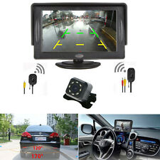 "Car 4.3"" TFT LCD Monitor + Wireless Night Vision 7 LED Rear View Backup Camera"