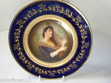 Hand Painted Porcelain Cabinet Plate , one of pair  ,  1701 26/6HS245xx