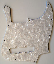 NEW PICKGUARD Jazz Bass white pearloid 3 ply pour Fender, Squier ou autre JBass