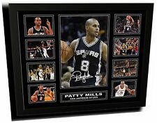 PATTY MILLS SAN ANTONIO SPURS SIGNED LIMITED EDITION FRAMED MEMORABILIA