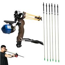 Outdoor Fishing Bowfishing Kit Slingshot Catapult Sling Shot + 6 x Carbon Arrows