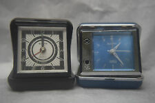 Two Boluva Travel Clocks - One runs - Both need some TLC - Used