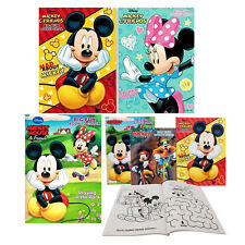 2pc Disney Mickey Minnie Mouse & Friends Kids Jumbo Coloring & Activity Books