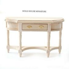 Plain wood Hall Table with Opening Drawer, Dolls House Miniature, Furniture,