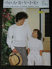 "Narvik Knitting Pattern: Ladies & Girls Sweaters, DK, 24-42"", N753"