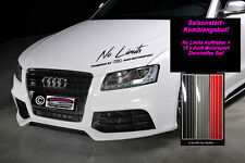 No Limits by Audi Motorsport Sport Mind Aufkleber Sticker+15x Zierstreifen Quatt