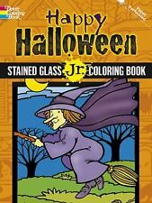Dover Stained Glass Junior Coloring Book: Happy Halloween