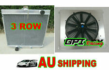 Aluminum Radiator for Ford XW XY 302 GS GT 351 Cleveland 3 Row+Alloy Shroud+Fan