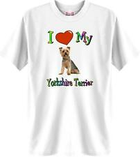 Big Dog T Shirt Love My Yorkshire Terrier Animal Friend Men Women # 977 Adopt